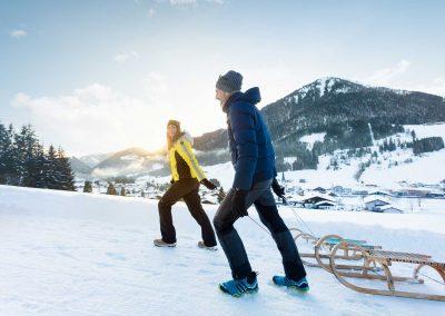 Schlittenfahren im Salzburgerland